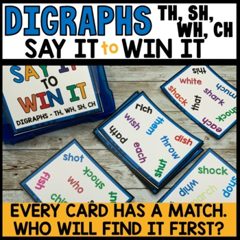 LITERACY CENTERS th, wh, sh, ch practice [SPOT THAT WORD]