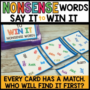 LITERACY CENTERS NONSENSE WORDS [SPOT THAT WORD]