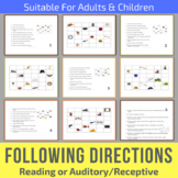 Following Directions Activity - Reading or Auditory