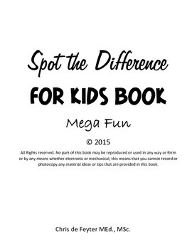 Spot The Difference For Kids Book (Mega Fun)