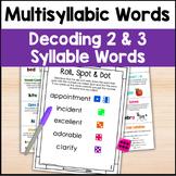 Multisyllabic Words Intervention Activities- Spot and Dot Volume 1