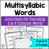 Decoding Multisyllabic Words Intervention Activities- Spot and Dot Volume 1