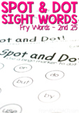 Spot and Dot Sight Words - Set 2