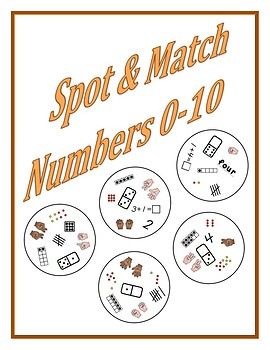 Spot and Match Numbers 0 to 10
