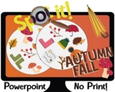 Spot it! Dobble! AUTUMN/FALL Interactive Powerpoint Game Vocabulary Flashcards