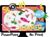 Spot it! Dobble! SUMMER Interactive PowerPoint Game Vocabulary