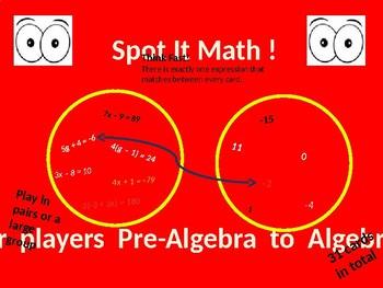 Spot it - Math edition