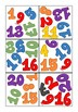 Spot it game - numbers from 1 to 20