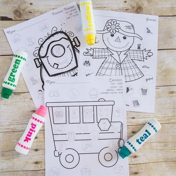 Spot-on Speech & Language: Fall; Preschool Print-N-Go Dot Art Pages/Dough Mats