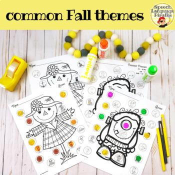 Spot-on Speech & Language: Fall; Preschool No Prep Dot Art Pages/Dough Mats