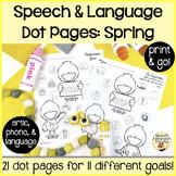 Spot-on Speech & Language: Spring; Preschool No Prep Dot A