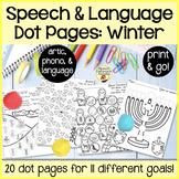 Spot-on Speech & Language: Winter; Preschool Print-N-Go Dot Art Pages/Dough Mats