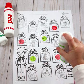 Spot-on Speech & Language: Winter; Preschool No Prep Dot Art Pages/Dough Mats