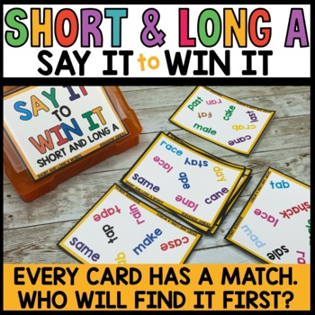 Spot that Word Game (short and long vowel A sounds)