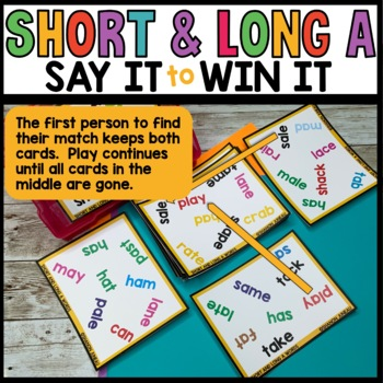 LITERACY CENTERS short and long vowel A sounds [SPOT THAT WORD]