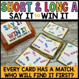 LITERACY CENTERS short and long vowel A sounds SPOT THAT WORD