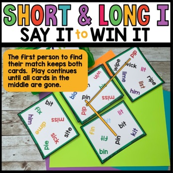 LITERACY CENTERS Long and Short I vowel words [SPOT THAT WORD]