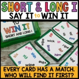 High Frequency Word Practice Game Long and Short I Words |