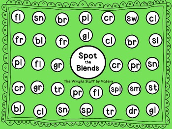 Spot the Blends Common Core