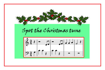 Spot the Christmas tune (reading piano music)