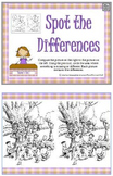 Spot the Difference Activity Book PDF 50 pages