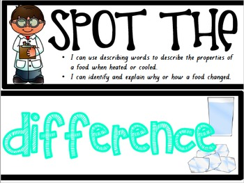 Spot the Difference Science Wall Label