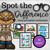 Spot the Difference Visual Perception Worksheet Packet