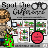 Spot the Difference Visual Perception Worksheet Packet- Ch
