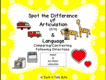 Spot the Difference for Articulation (FV) & Language