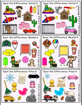 Spot the Difference for Articulation (KG) & Language