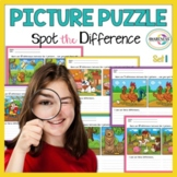 Spot the Differences: 10 Pictures Puzzle - Expressive Language Skills.
