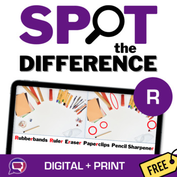 #slpfreebiefriday Spot the Differences Articulation - No Print/Print for R