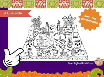 Spot the Differences: Dia de Muertos Worksheet - Spanish for Kids
