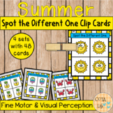 Spot the Different Emotion Clip Cards - Summer Series