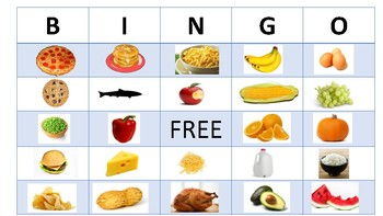 Spot the Food Bingo