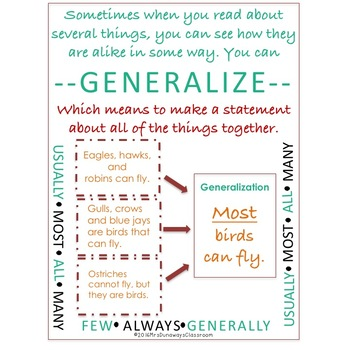 Spot the Generalizations (task cards, game board, Scoot)