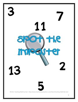 Spot the Imposter - Level 1 - A Warm-up Math Activity