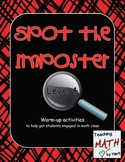 Spot the Imposter - Level 4 - A Warm-up Math Activity