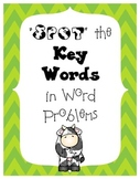 Spot the Key Words in Word Problems Posters