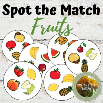Spot the Match mini-game: Fruits (any language)