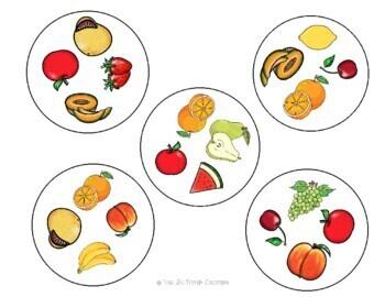 Spot the Match mini-game: Fruits (any language)