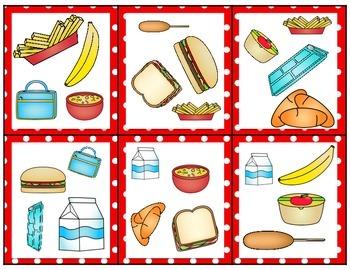 Spot the Match {School Lunch}