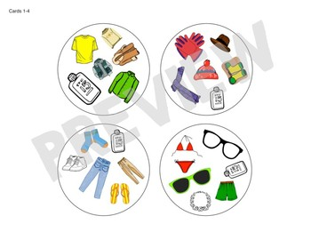 Spot the Match game for Clothing Vocabulary : Works in ANY Language / ESL