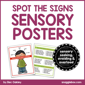 Spot the Sensory Signs Posters