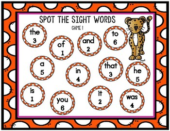 Spot the Sight Words