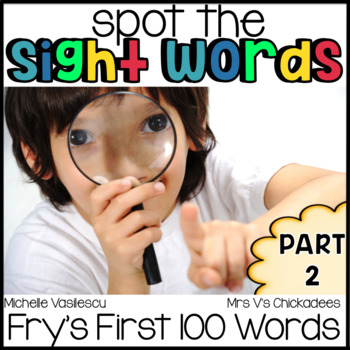 Spot the Sight Words Part 2 {Fry's First 100}