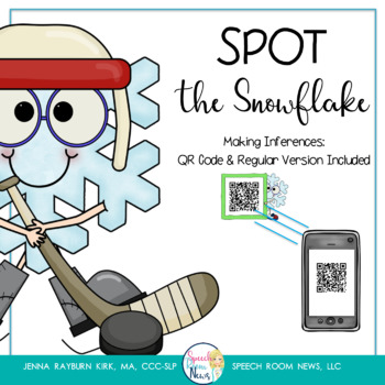 Spot the Snowflake: QR Code Inferencing activity for Speech Therapy