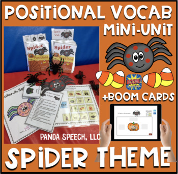 Spot the Spider Positional Vocabulary Unit!  Speech Therapy Activities