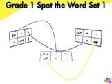 Spot the Word Grade 1 Set 1