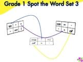 Spot the Word Grade 1 Set 3